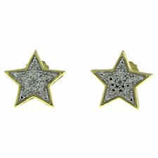 0.05 Ct Round Cut Diamond Stud Earrings in 14K Yellow Gold Over