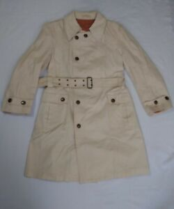 Vintage Cortefiel Khaki Canvas Trench Coat Size 42 Pre Owned