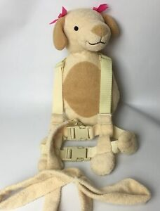 Gold Bug 2 in 1 Puppy Dog Child Toddler Harness Buddy Leash Brown Pink Bows