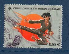 """FRANCE OBLITERE 2012 """" CHAMPIONNAT DU MONDE DE KARATE  """"  N° 4681 CACHET ROND"""
