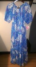 NWT Hilo Hattie Hawaiian MuuMuu Dress Floral Print Size S