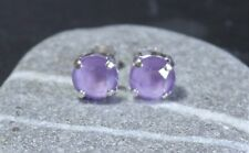 Silver Plated Lilac Stud Earrings made with 8mm Swarovski Crystal Elements