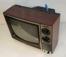 "Sharp 13MM7D 14"" CRT TV Woodgrain Retro Video Gaming 1989 Vintage Linytron"