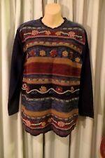 VINTAGE  80'S ~ KATIES ~ Velvet Knit TUNIC JUMPER * Size 12 * REDUCED !!