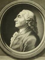 J.E HAID (1739-1809) Gravure XVIII PORTRAIT MANIERE NOIRE Hirzel AUGSBURG 1775
