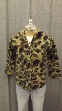 Vtg Home Sewn Cotton Chamois Hunting Jacket sz Small Woodland Camo