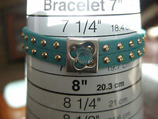 Studded Suede Bracelets, Various Colours, with Metal and Crystal Central Feature