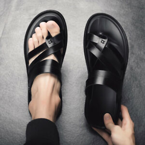 Casual Men Roman Beach Sandals Toe Thong Slippers Leisure Strappy Summer Shoes