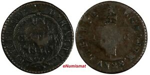 HAITI Copper 1831 // AN 28 1 Centime Ex.Wolfgang Schuster KM# A21 (17 553)