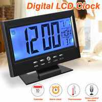 Led Digital Projection Alarm Clock Loud Snooze Calendar Weather Display UK