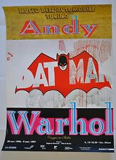 ANDY WARHOL RARE BATMAN ORIGINAL LARGE EX POSTER FIRST ED EXPO ITALY 1996