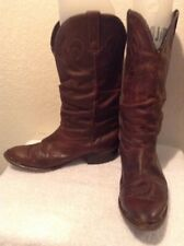 VINTAGE Brown DURANGO COWBOY BOOTS Men's Size 10D Distressed Pointed Toe Oiled