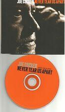 JOE COCKER Never tear us apart EUROPE PROMO DJ CD Single USA seller INXS REMAKE