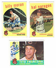 1960 Topps Baseball TITO FRANCONA autographed CLEVELAND INDIANS card late great
