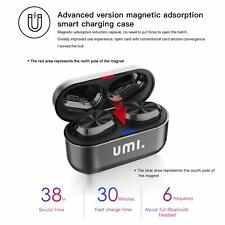 TWS Bluetooth 5.0 IPX7 W5s True Wireless Earbud Headphones for iPhone, Samsung,
