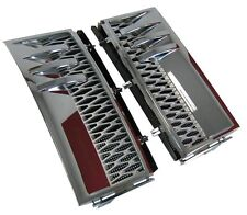 Chrome+Silver side wing vent air intake grille Range Rover L322 2010 Vogue parts