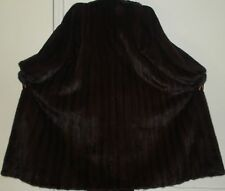 MAXIMILIAN BLOOMINGDALE'S Mahogany Mink Fur Coat Size 10-12 Excellent Condition