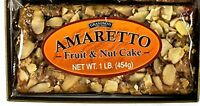 Grandma's Amaretto Fruitcake Traditional Recipe with Almond Flavor 1lb Loaf