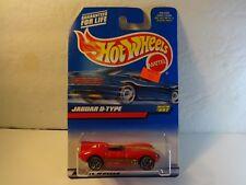 Hot Wheels Racing #27 Red Jaguar D-Type w/ lace wheels PKG# 997 MIB
