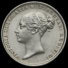 1844 Queen Victoria Young Head Silver Sixpence, Scarce