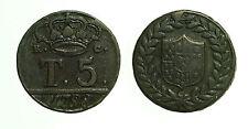 pcc1663_11) Napoli Regno  Fedinando IV -  5 Tornesi 1798 Senza P - RR