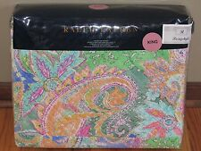 NIP Ralph Lauren FLYING POINT Paisley KING QUILTED COVERLET/QUILT/BEDSPREAD New