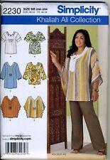 Tunics or Tops - Khaliah Ali - Pattern Sizes 20W-28W