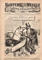 1877 Harpers Weekly February 24-Central Park skating; Constantinople;shoot Bulls