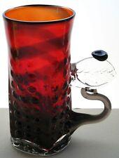 FRITZ DREISBACH HAND BLOWN ART GLASS MUG CUP VASE STEIN
