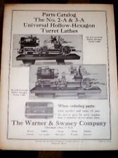 Warner & Swasey 2-A/3 Turret Lathe Parts Catalog/Manual