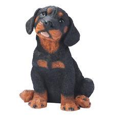 Puppy Dog: Rottweiler Breed Man's Best Friend Animal Sculpture for Home  Garden