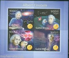GUINEA BISSAU 2013 TRIBUTE TO ALBERT EINSTEIN WITH NOBEL PRIZE  MEDAL SHEET