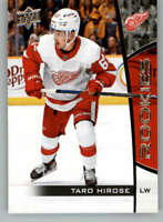 2019-20 UD NHL Rookie Box Set #12 Taro Hirose Detroit Red Wings Hockey Card