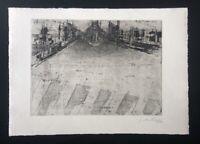 Joachim Palm, Zebrastreifen, Radierung, 1967, handsigniert und datiert