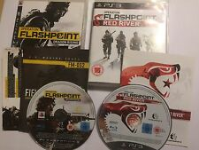 2 COMPLETE PAL PLAYSTATION 3 GAMES OPERATION FLASHPOINT RED RIVER +DRAGON RISING