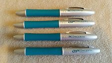 **Lot of 4** CONCERTA Drug Rep Pharma Pens - Collectible - Limited