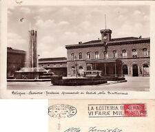 BOLOGNA STAZIONE FONTANA CARTOLINA VIAGGIATA 1937