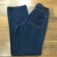 LL Bean Straight Fit Womens Blue Jeans 100% Cotton Womens Size 12 M/T