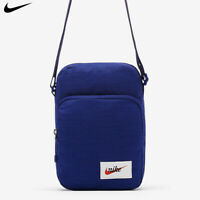 Nike Heritage Small Item Crossbody Messenger Bag Navy Blue Swoosh BA5809-590