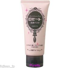 Rosette Cleansing paste foam white mud Hyaluronic acid collagen containing 120g
