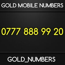 GOLD 0777 GOLDEN EASY VIP DIAMOND PLATINUM 0777 MOBILE NUMBER 07778889920