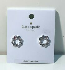 Kate Spade New York Clear/Silver Full Circle Earrings (2.9)