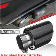 Universal Carbon Fiber Car Exhaust Pipe Tail Muffler End Tip 63mm In-101mmout