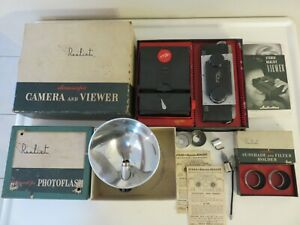 Vintage Realist Stereoscopic Camera, Viewer, Flash ++