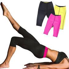 Damen Neopren Schwitzhose Sport Korsett Sporthose Rosa Yoga Fitness Body SHAPERS