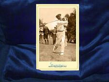 WALTER HAGEN Legendary Golf Champion Cabinet Card Photo Vintage RP Autograph