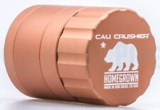 Cali Crusher - Homegrown 4 Piece Herb Grinder - 1.85'' Pocket Size - Brown