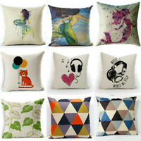 "Fashion Pattern Case Cushion Cover Home Decor 18"" Cotton Linen Throw Pillow"