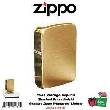 Zippo 1941 Vintage Replica Lighter, Brushed Brass, Genuine USA Windproof #1941B