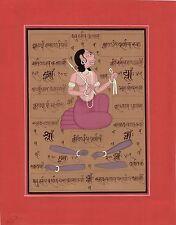 Tantrik Tantra Art Handmade Asian Tantric Yantra Indian Religion Folk Painting